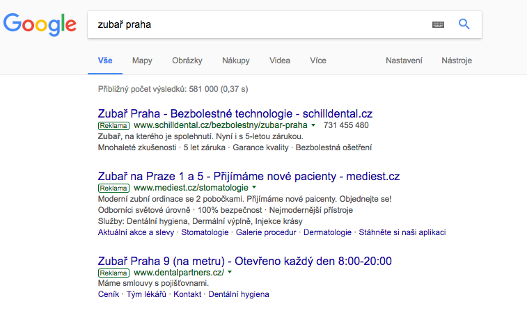 PPC reklama Google AdWords