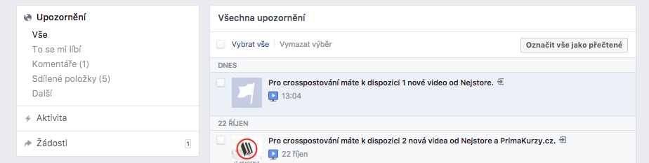 crossposting na Facebooku