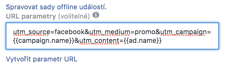 Tagování reklam na Facebooku - Business Manager